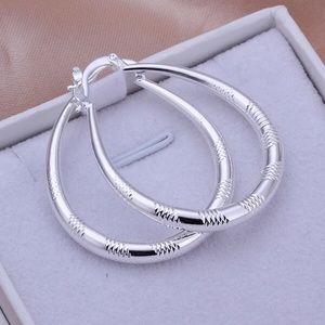 .925 Sterling Silver Hoop Earrings